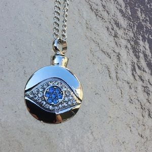 Jewelry - Cremation necklace evil eye Back  in stock